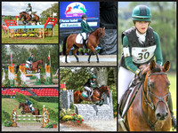Millstreet European for Pony 2014 collage of Irish riders(eventing)